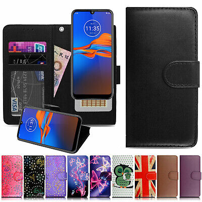 For Motorola Moto E6 Plus Play Case Phone Wallet Leather Flip Book Cover