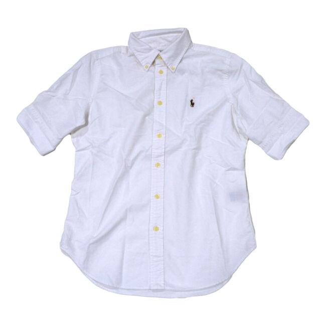 Polo Ralph Lauren Womens Button Down Oxford Short Sleeve Shirt ...