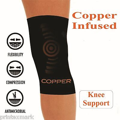 e55058e55f Copper Comfort Copper Infused Knee Compression Sleeve Support Brace Joint  Pain