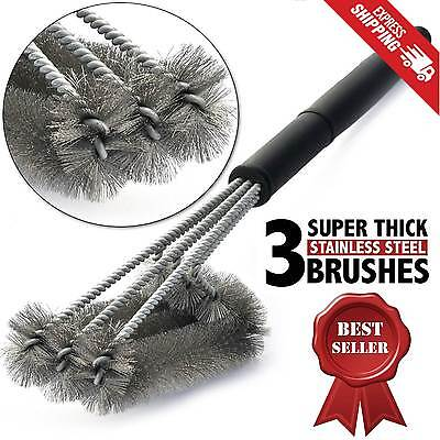 BBQ Grill Brush Thick Stainless Steel Barbecue Cleaning Tool Woven Wire Cleaner