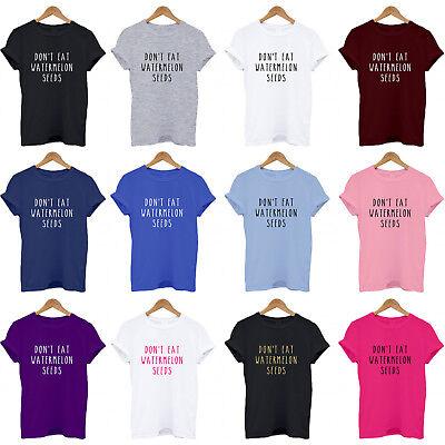 Fun Pregnancy T Shirts (DON'T EAT WATERMELON SEEDS, Pregnancy, Pregnant, baby, bump, fun, funny T)