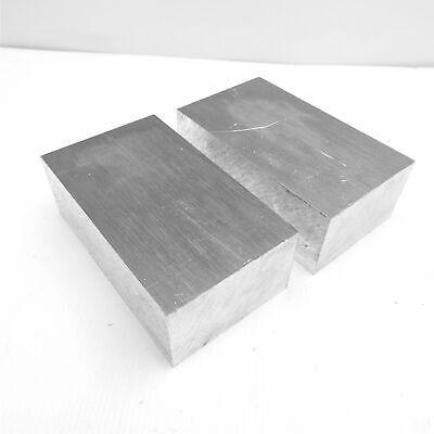 2.25 Thick 2 14 Aluminum 6061 Plate 3.5 X 7.75 Long Qty 2 Sku 137265