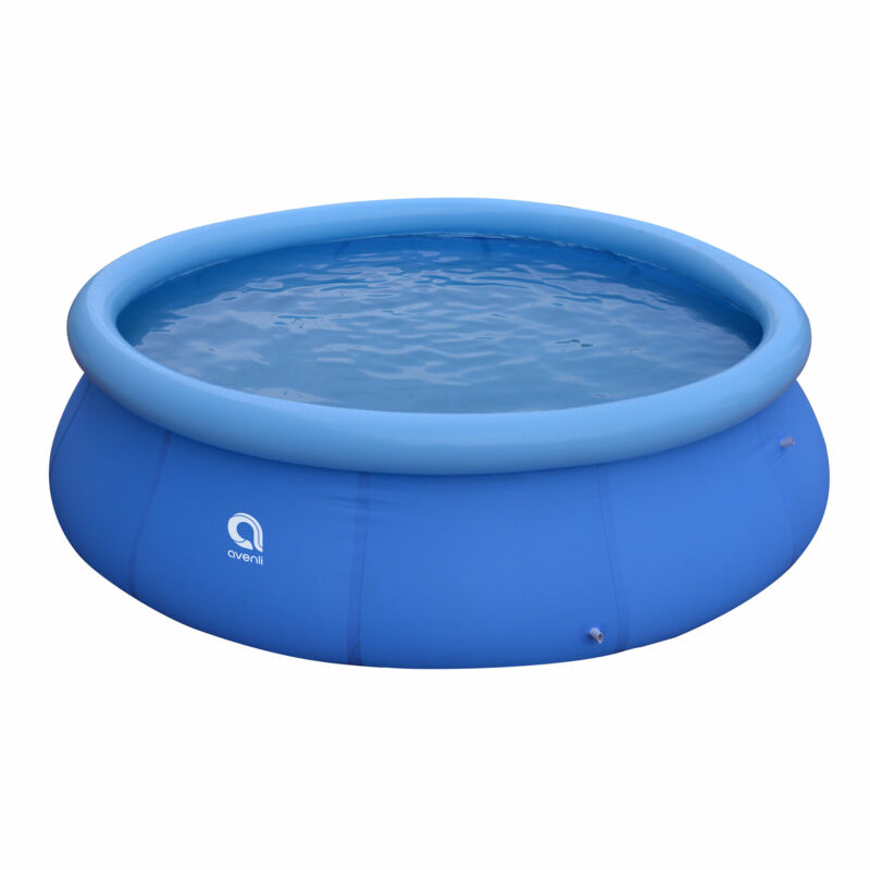 """JLeisure 17808 12 Ft x 30"""" Prompt Set Inflatable Outdoor Backyard Swimming Pool"""