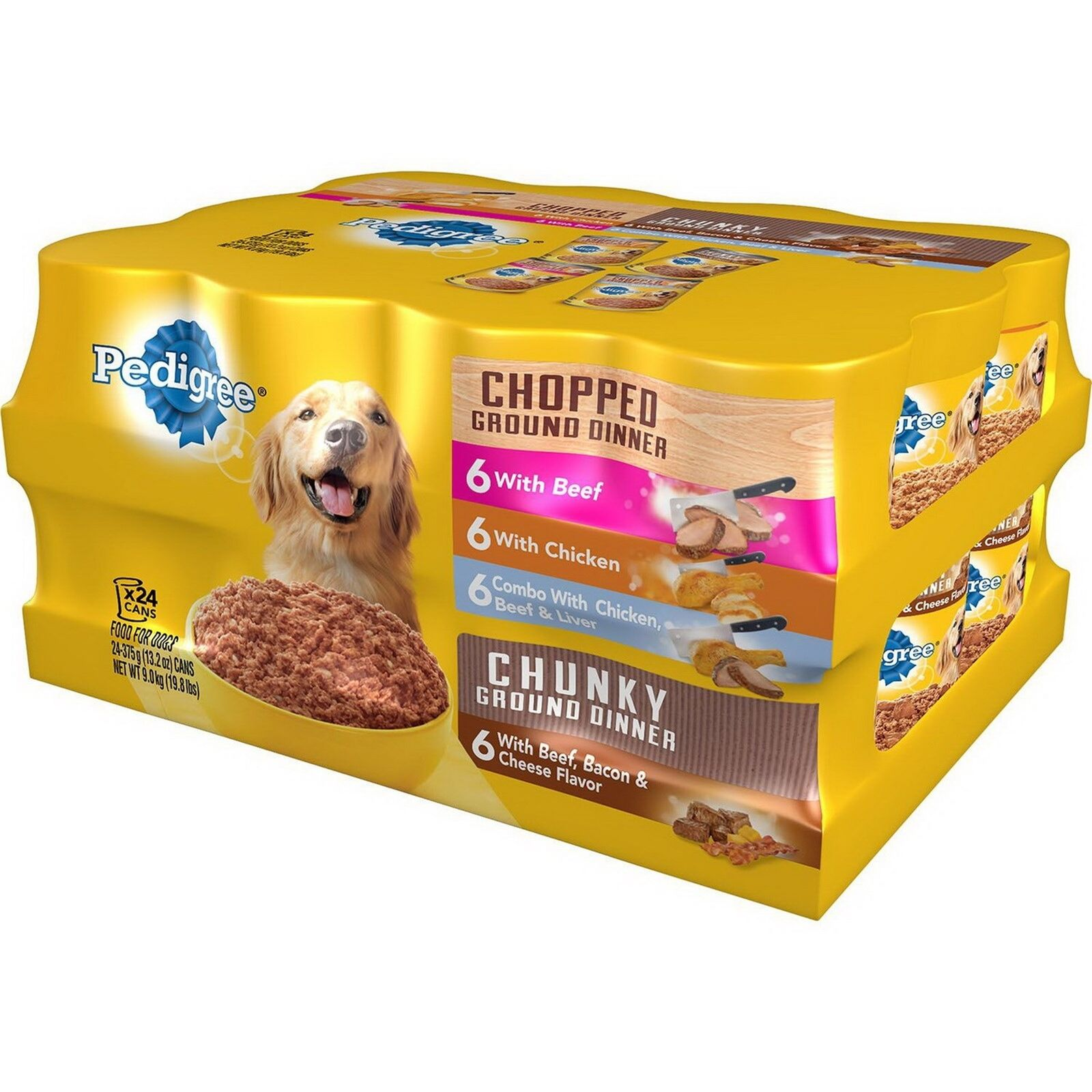 Pedigree Dog Food 24 can Ground Dinner Canned Soft Wet