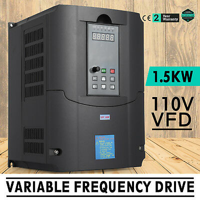 1.5kw 110v Variable Frequency Drive 2hp Vfd Speed New Control Single Phase