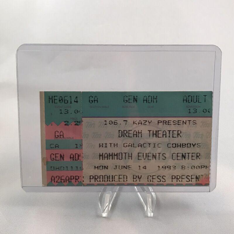 Dream Theater Mammoth Events Center Concert Ticket Stub Rare Vintage Jun 14 1993