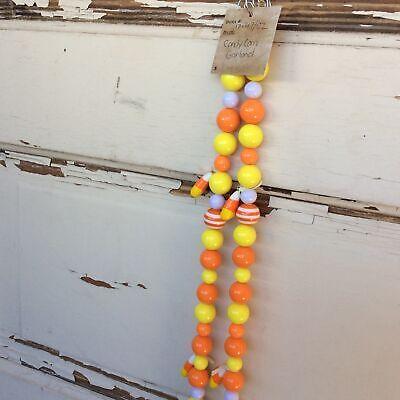 AGD Halloween Decor – Candy Corn Chunky Bead String Garland