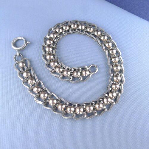 Victorian Serling Silver Two Tones Bracelet