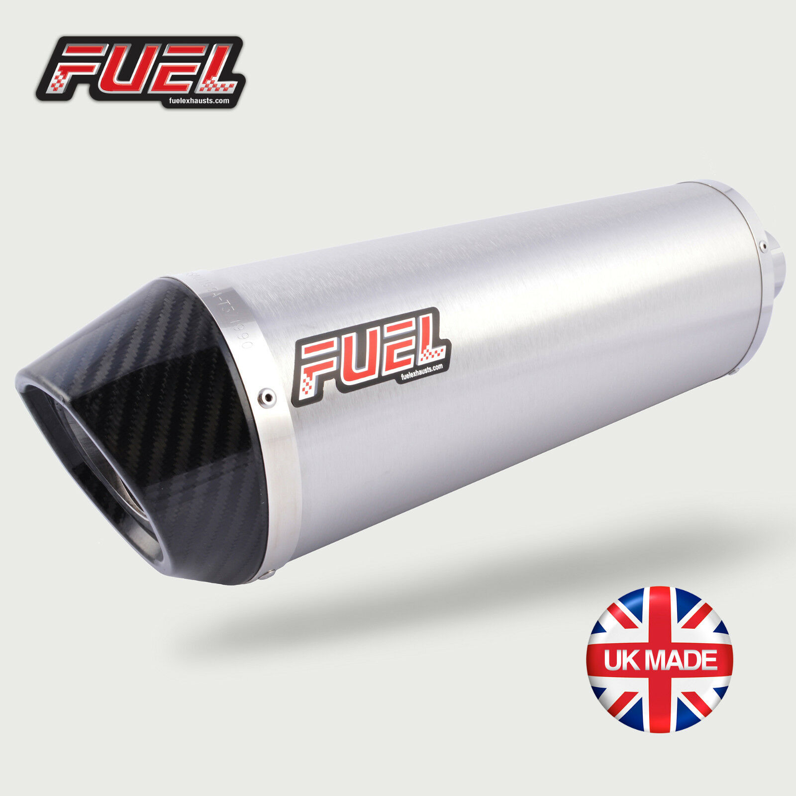 Honda VFR800 FI 98-01 Diablo Brushed S/S Oval Mini UK Street Legal Exhaust Can