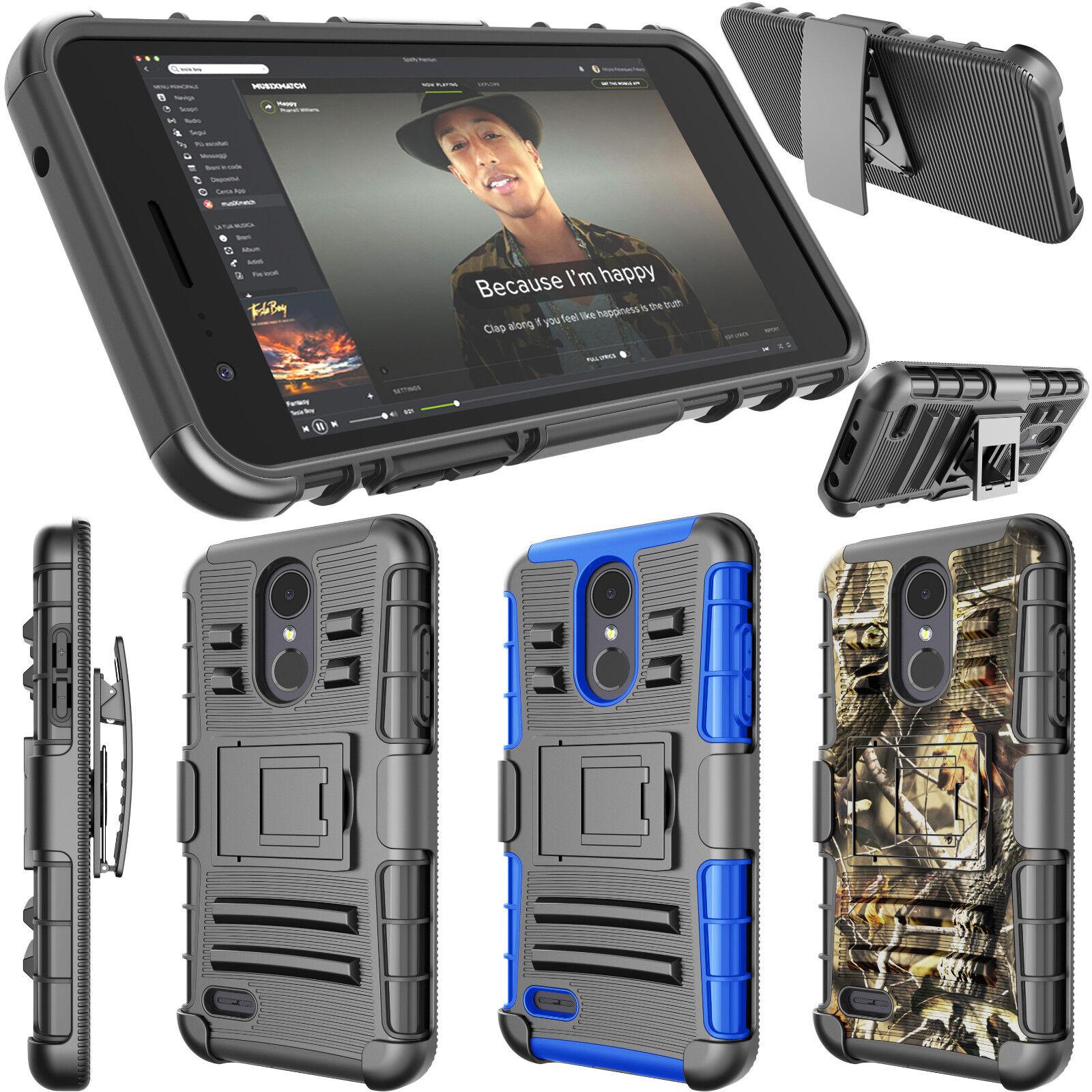 For LG Rebel 3 LTE/Risio 3/K8 2018/Fortune 2/Zone 4 Belt Swivel Clip Phone Case