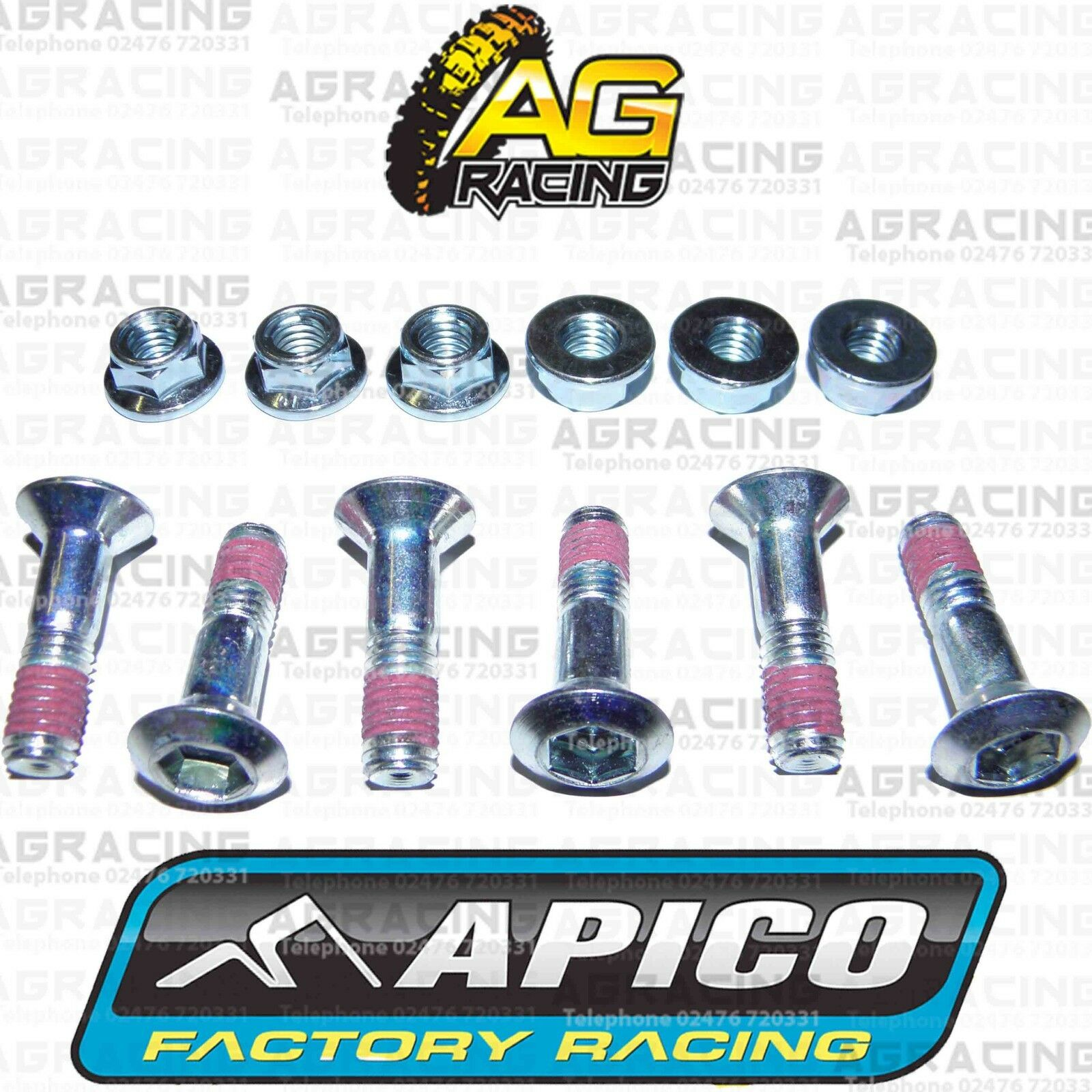 Apico Black Rear Sprocket Bolts Locking Nuts Set For Honda CR 250R 1979 MotoX