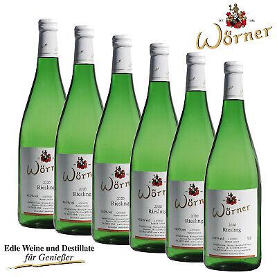 (5,33€/l) Riesling lieblich 6x1L WEINGUT WÖRNER - Weißwein Wein aus der Pfalz