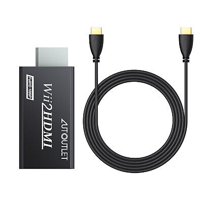 Adaptador WII a HDMI Convertidor Audio HDMI Con Cable 1m Kit Para...