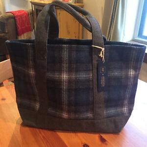 Nwt Gap Pendleton Wool Blue Plaid Tote Per Bag Limited Edition