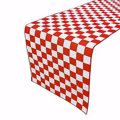Zen Creative Designs Premium Cotton Table Top Runner Race-car Checker Board