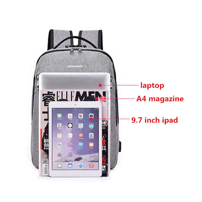 Anti Theft Backpack USB Charging Port Notebook Business Travel