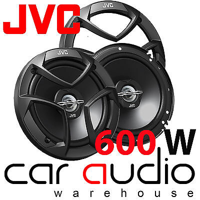 "JVC CS-J620 6.5"" 16cm 2 Way 600 Watts Pair Car Door Coaxial Speakers & Grilles"