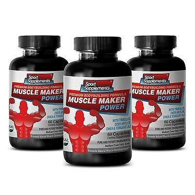 Muscle Maker Power   Testosterone Level Muscle Mass Sexual Booster Capsules  3B