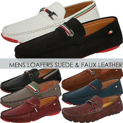 Mens LOAFERS SUEDE SHOES Dress Casual Classic Style Fashion Driving Slip - Classic Suede Loafers