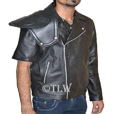 Mad Max Black Biker Leather Jacket , ALL SIZES, Fast Shipping