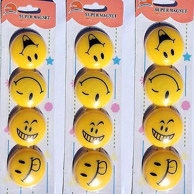 12 x Smile Magnet Smiley Grins Kühlschrankmagnet Pinnwand Deko Magnetset