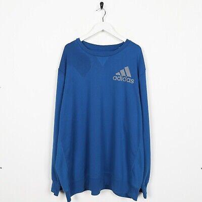 Vintage adidas Pequeño Logo Jersey Sudadera Azul 2XL segunda mano  Embacar hacia Spain