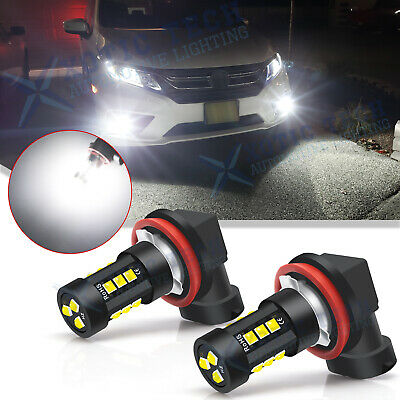 For Honda Civic 2016-2019 20 Bright Xenon White LED Fog Light Bulbs Driving Lamp