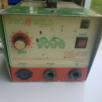 Pro Weld International Cd 212 Stud Pin Welder Cd-212 With Gun. Nice Fast Ship