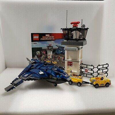 LEGO set Marvel Super Hero Airport Battle 76051 Avengers no figs Quinjet Civil