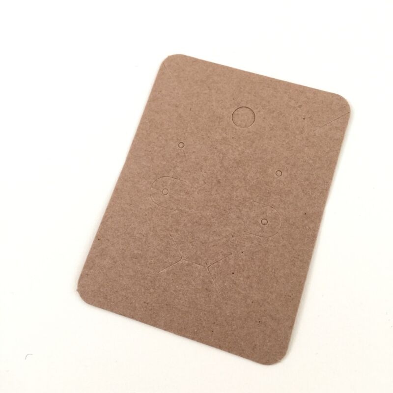 100pc Brown Blank Necklace Ring Holder Leverback Earrings Paper Display Card