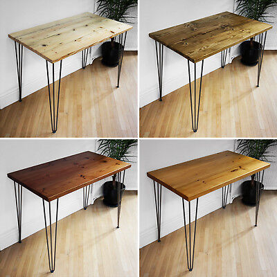 Hairpin Legs Desk - Solid Wood Home Furniture Office Workstation - UK Handmade ✅