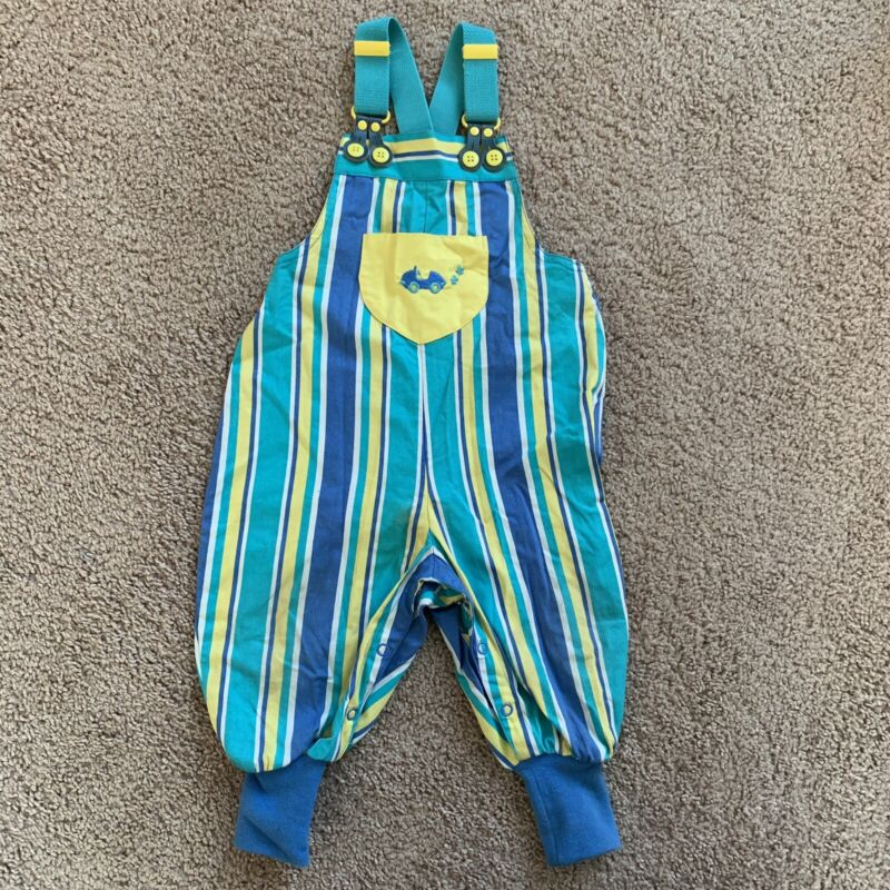 VINTAGE 90s GYMBOREE Overalls Bright Colorful Size Infant 6-12 mo