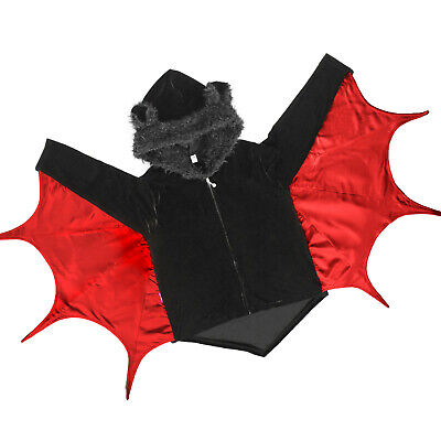Kinder Fledermaus Kostüm Kapuzenjacke Mantel Halloween Bat Cape - Rote Kapuzen Mantel Kostüm