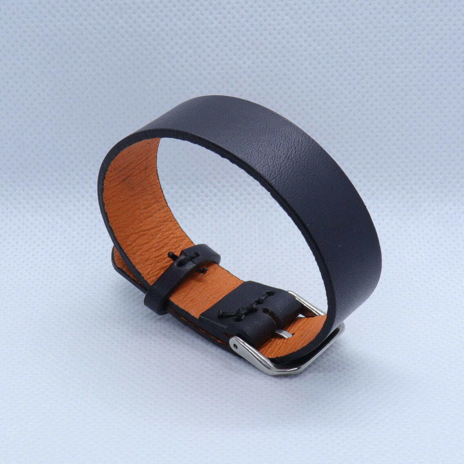 Black Aventail single piece leather NATO/ ZULU watch strap