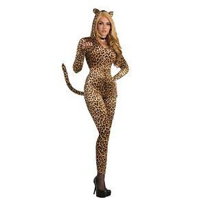 8354d27405d Sly Leopard Sexy Catsuit Jumpsuit Animal Adult Ladies Fancy Dress Costume