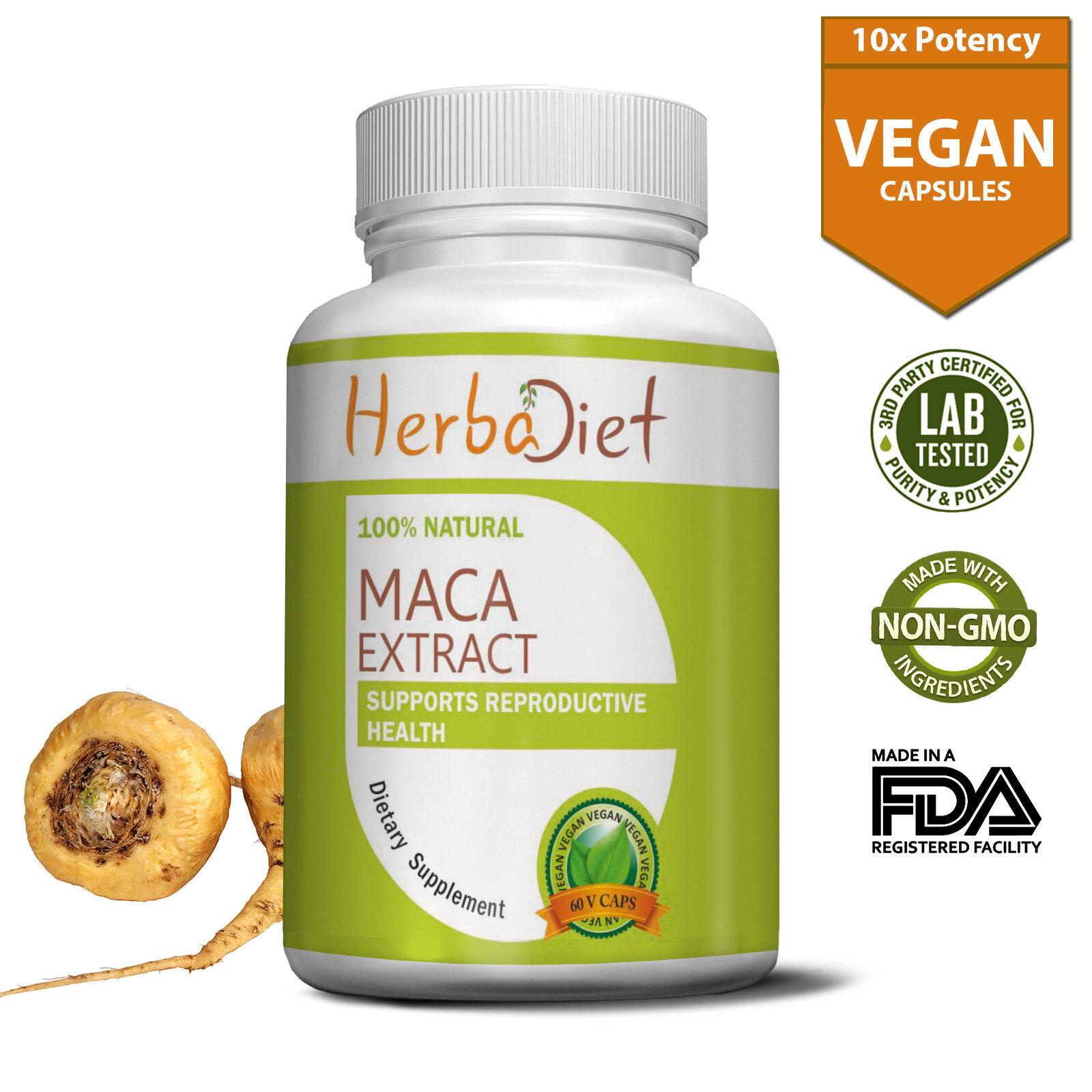 Maca Root Extract 500mg Capsules Sexual Wellness Enhancer En