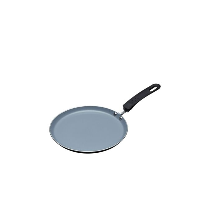 MASTERCLASS Ceramic Induction Ready 24cm Crepe/Pancake Pan. Non-Stick, All Hobs