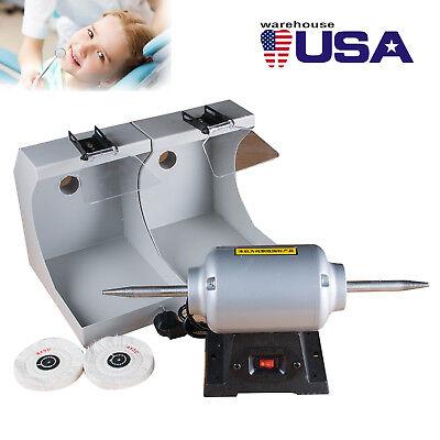 3000rpm Dental Polishing Bench Lathe Machine Burnishing Casting Double Hoods Fda