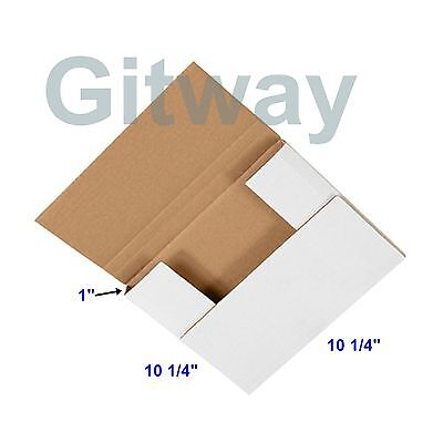 50 Pcs 10 14 X 10 14 X 1 Multi Depth Cardboard Book Mailer Shipping Box Boxes