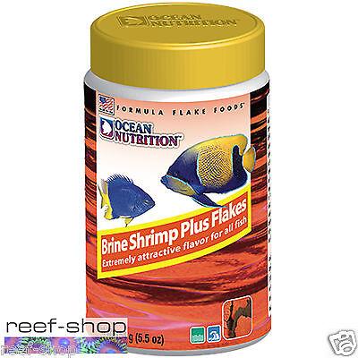 Fish Food Flakes Ocean Nutrition Brine Shrimp Plus 154 gram FREE USA SHIPPING