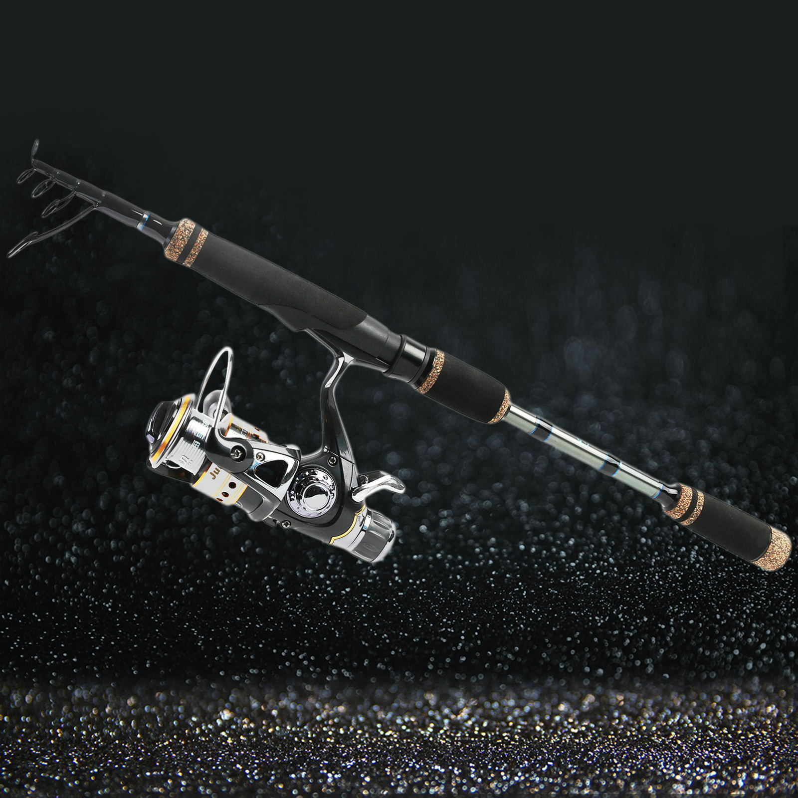 8/' Spinning Fishing Rods 6/'8/'/' 9/' Bass Trout Travel Telescopic Pole 7/'