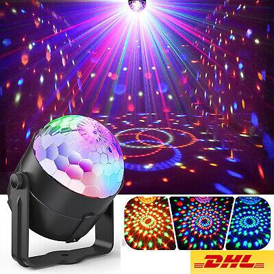 LED Discokugel Lichteffekt Magic RGB DJ Party lichtorgel Bühnenbeleuchtung DE ()