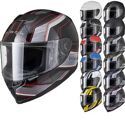 Black Titan ACU Gold Approved Motorcycle Helmet Motorbike Sports Bike Pinlock