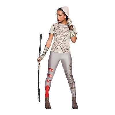 Women's Star Wars The Force Awakens Rey Rhinestone Costume T-Shirt w/ Hood S M