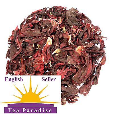 HIBISCUS DRIED FLOWERS TEA - ROSELLA - LOWERS CHOLESTEROL & BLOOD PRESSURE