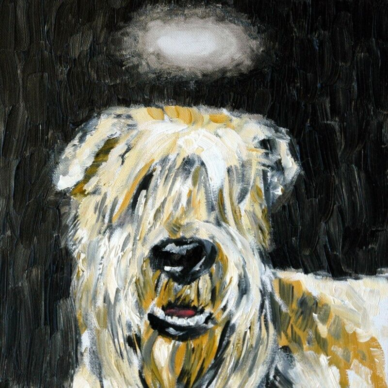 wheaten terrier dog angel dog art tile coaster gift gifts tiles coasters