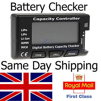 LiPo Battery Capacity / Voltage Checker / Tester Meter / LiFe Li-ion NiMH RC - Nimh Battery Voltage