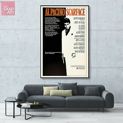 Canvas print wall art big poster Universal Scarface Classic Movie Al Pacino