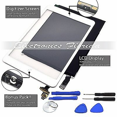 LCD + Touch Screen Digitizer / Replacement For Apple iPad Mini 1st White/Black