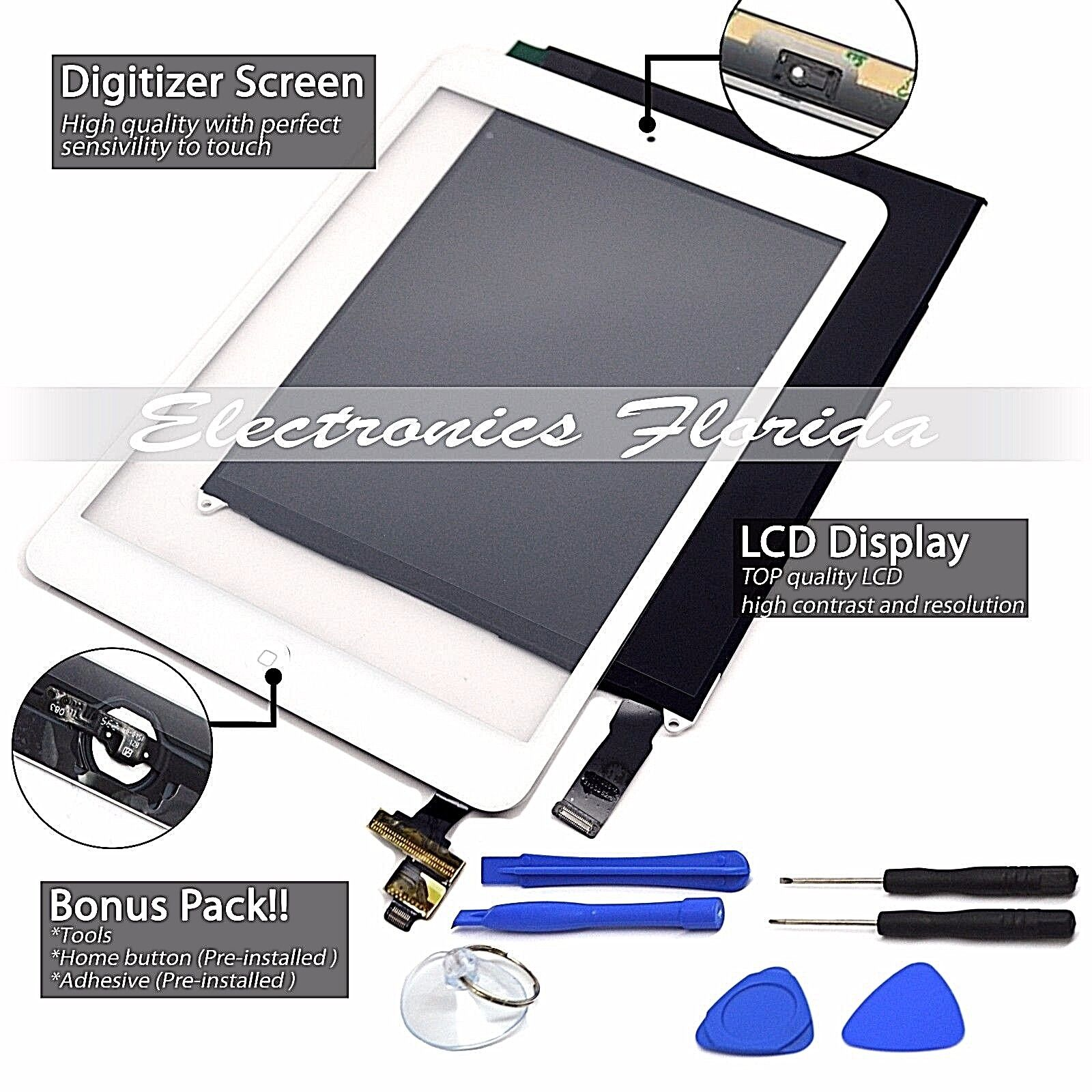 Lcd + Touch Screen Digitizer / Replacement For Apple Ipad...